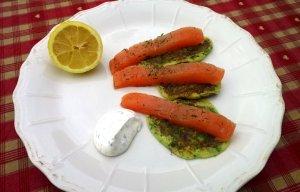 crêpes épinard au saumon mariné